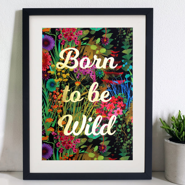 Born To Be Wild Tropical Liberty Fabric Wall Art