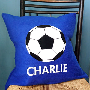 Football personalised cushion