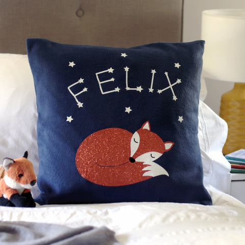 Fox cub cushion gift for child