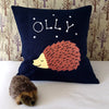 Sleeping woodland hedgehog cushion