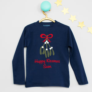 Happy Kissmas Personalised Christmas T Shirt