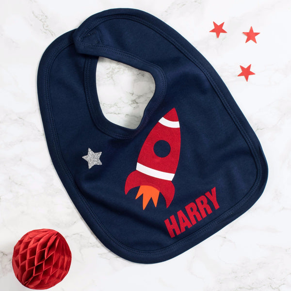 Personalised rocket bib
