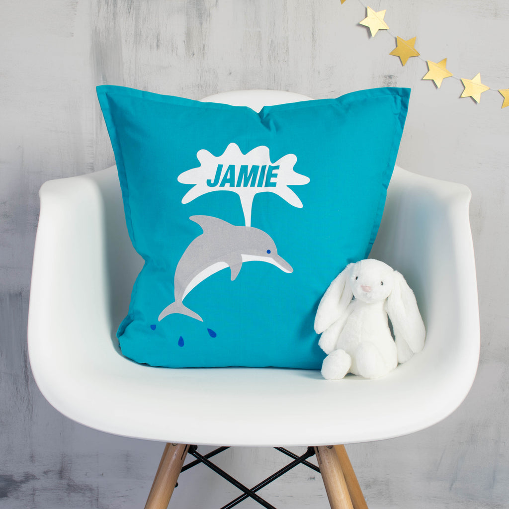 Personalised Dolphin Cushion