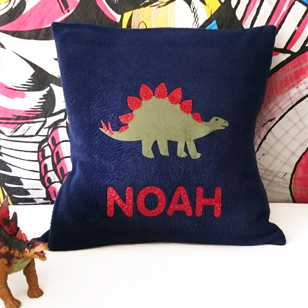 Stegosaurus personalised cushion