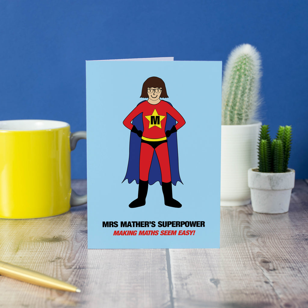 Teacher superpower card