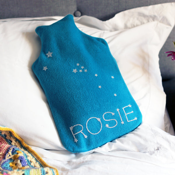 Star Sign Personalised Hot Water Bottle Birthday Gift