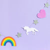 unicorn and rainbow nursery decoration
