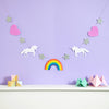 unicorn and rainbow garland