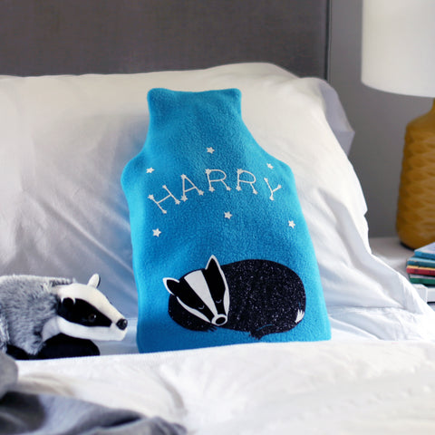 Badger hot water bottle cover