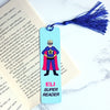 Superhero Personalised Bookmark for boys