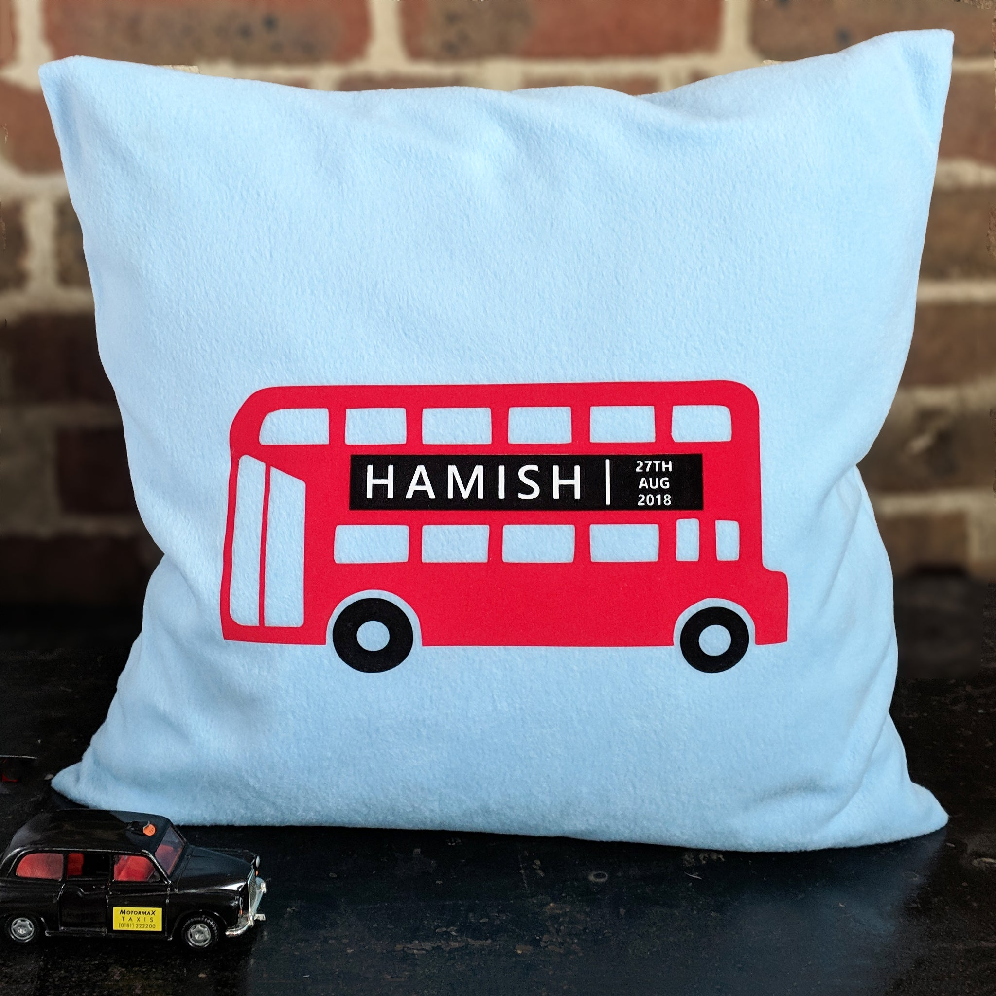London Bus Personalised Cushion