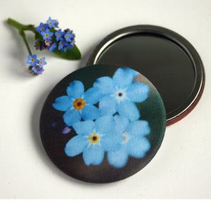 Forget-me-not handbag mirror