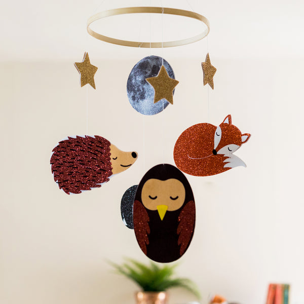 Woodland Creatures Nursery Mobile
