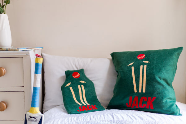 Cricket personalised cushion