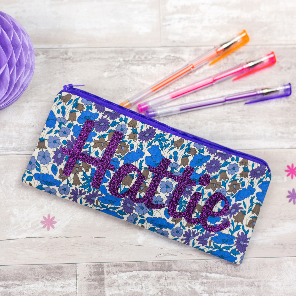 Special order Liberty Glitter Name Pencil Cases for Elisabeth