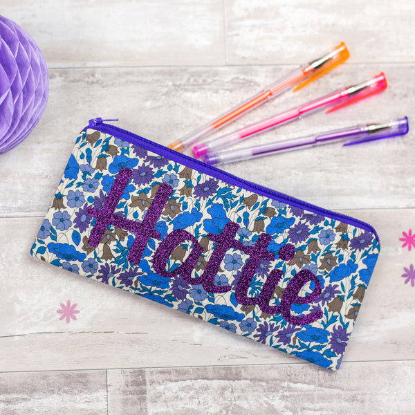Liberty Glitter Name Pencil Case