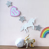 personalised unicorn and rainbow garland