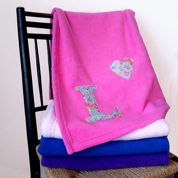 Liberty Initial Baby Blanket