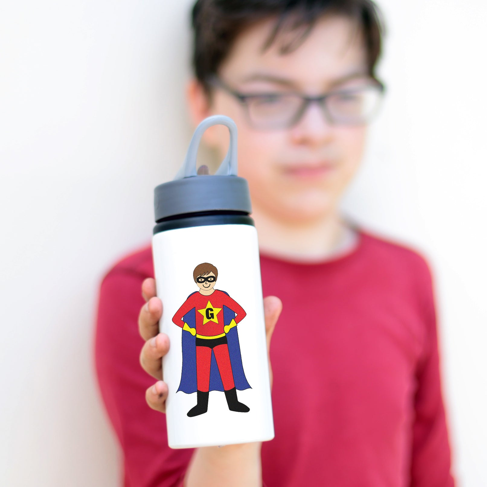 Create your own superhero water bottle