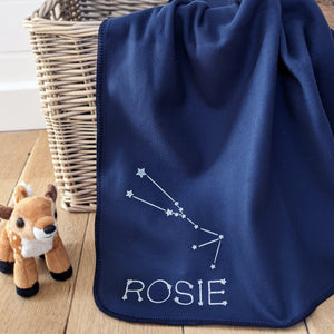 Star sign personalised baby blanket