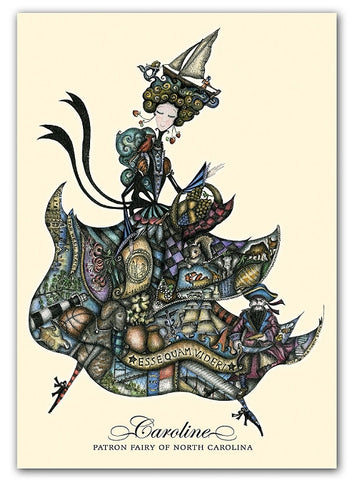 Box of greeting cards—Caroline, Patron Fairy of North Carolina | State Edition