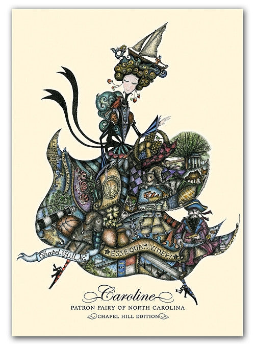 Box of greeting cards—Caroline, Patron Fairy of North Carolina | Chapel Hill edition
