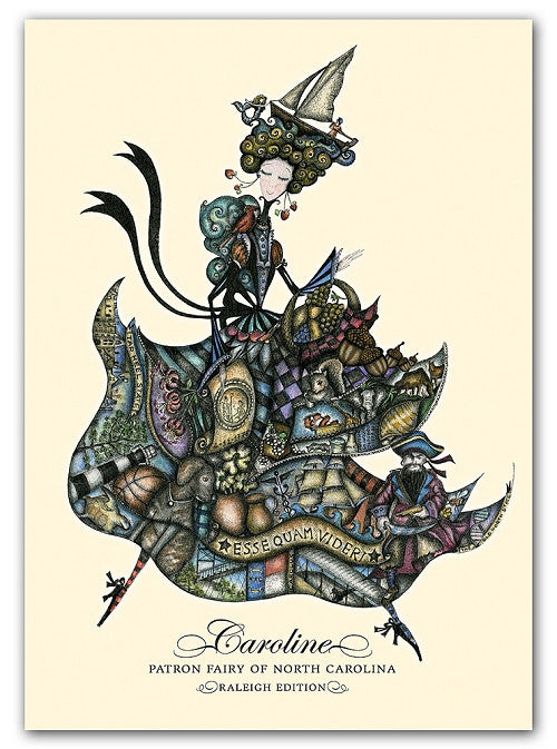Box of greeting cards—Caroline, Patron Fairy of North Carolina | Raleigh edition