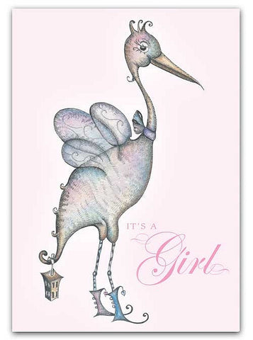 Box of greeting cards—The Fairy Stork | It's a Girl