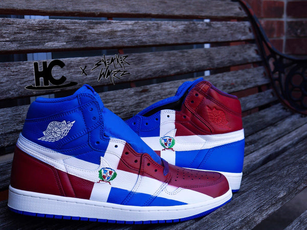 Custom Jordan 1's [ Dominican Republic ]