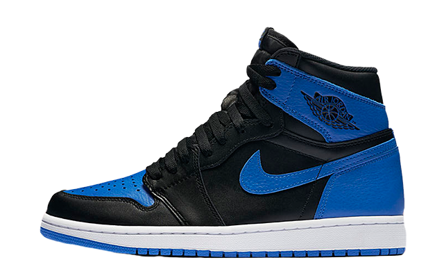 Jordan 1 Retro High OG Men's Shoes Black/Royal/White