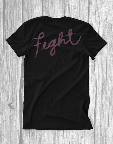 Fight - Breast Cancer Awareness - Pocket T-Shirt