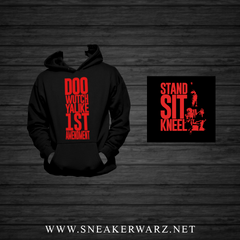 1st Amendment (Black/Red Hoodie) Kids
