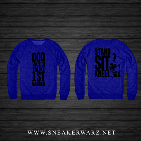 1st Amendment (Blue Crewneck) Kids
