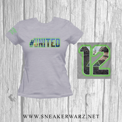#United / Women / T-Shirt-Grey
