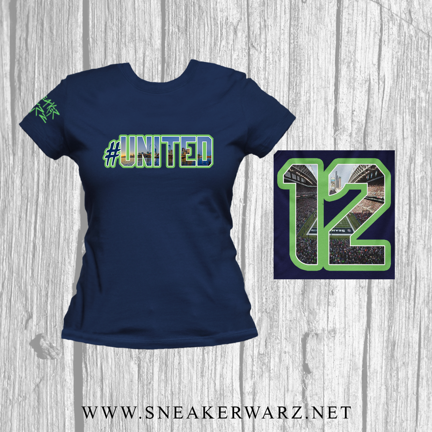 #United / Women / T-Shirt-Navy
