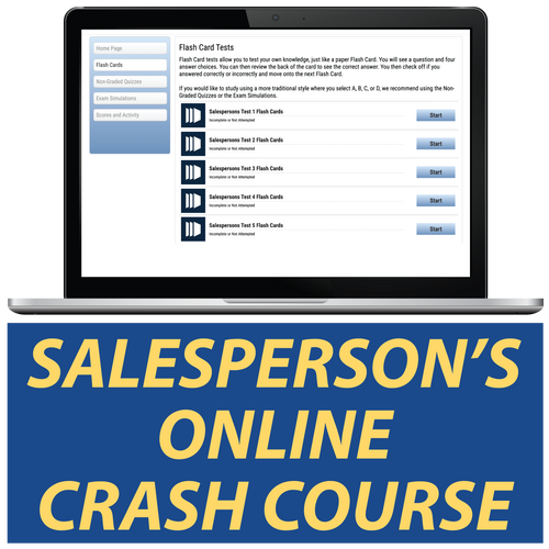 Salesperson's Online Crash Course Study Real Estate Tests Online
