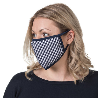 Mr.Buttermaker face mask with nano-filter, navy check