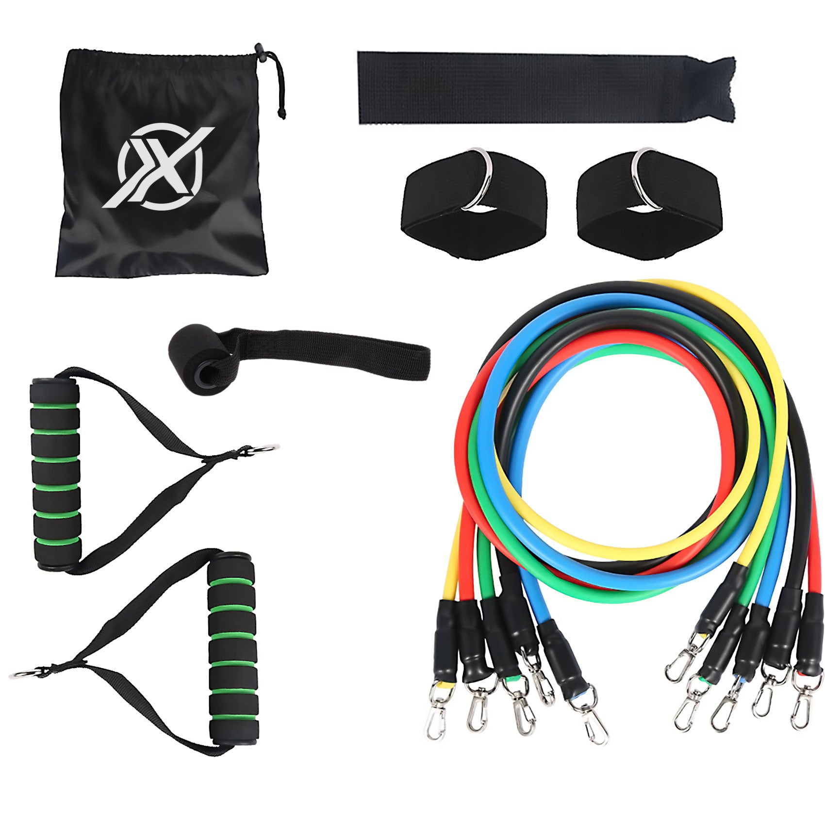 fitorx resistance band flat lay