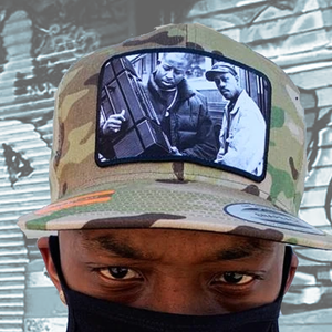 Gang Starr Guru & Premier Radio Photo Snapback Hat - Tropical Camo