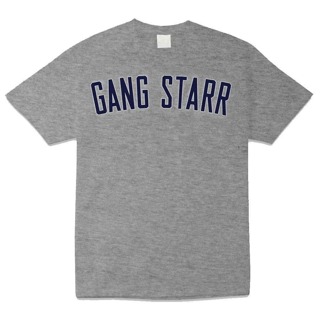 Gang Starr Text Yankees Colorway T-Shirt – Premier Wuz Here 808eb662859
