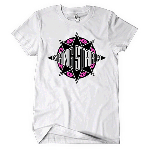 Gang Star Pink/Black/White Logo Tee