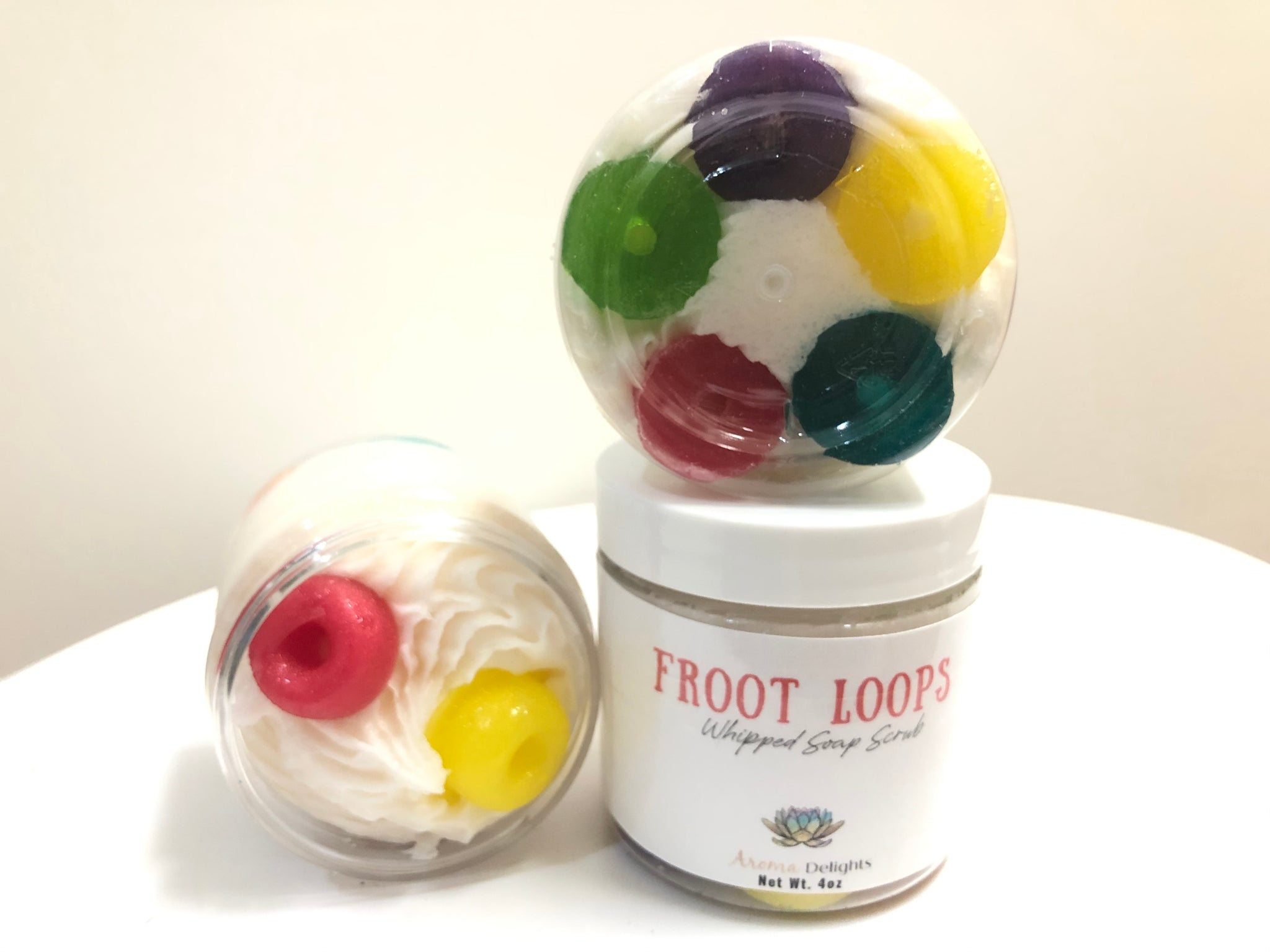 Froot Loop Whipped Soap Scrub