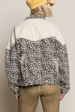 Load image into Gallery viewer, POL Leopard Denim Jacket