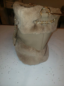 Fur Crossbody with Chain
