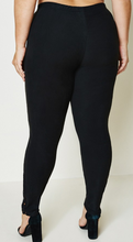 Load image into Gallery viewer, Hayden Lace Trim Brushed Leggings