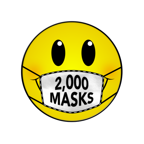 2000 MASKS DONATION NEW ORLEANS