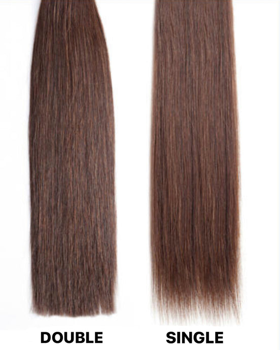 Single Weft vs Double Weft Hair Extensions