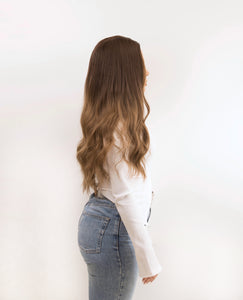 "Aluna 26"" Brown Non lace Synthetic Hair Wig - PBeauty Hair"