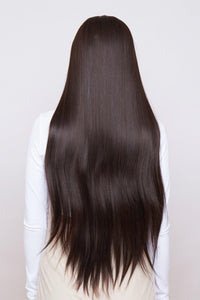 "Sienna 32"" Brown Lace Parting Wig"