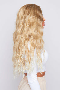 "Erin 28"" Ombre Blonde Loose Curl Synthetic Wig"